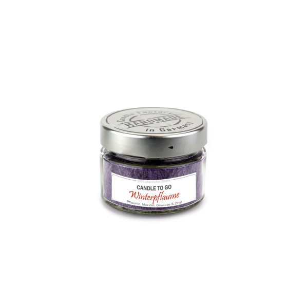 """Candle to go """"Winterpflaume"""", aubergine"""