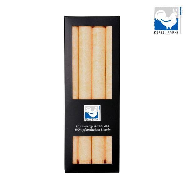 Stearin-Stabkerze, 4er Pack, 22 x 250 mm, creme