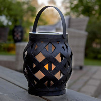 """LED Laterne """"Flame"""", schwarz, ca. 14 x 16 cm, Outdoor"""