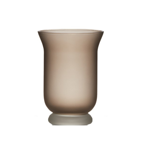 Hurricane Vase 20 cm, frost brown